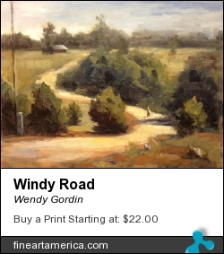 Windy Road by Wendy Gordin - Painting - Oil On Canvas
