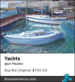 Yachts by Igor Pautov - Painting - Oil On Canvas