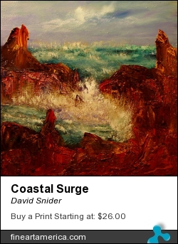 Coastal Surge by David Snider - Painting - Oil On Canvas