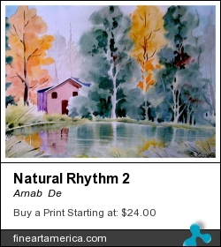 Natural Rhythm 2 by Arnab  De - Painting - Watercolor On Paper