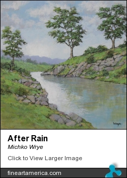 After Rain by Michko Wrye - Painting - Acrylic On Panel