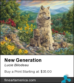 New Generation by Lucie Bilodeau - Painting - Oil On Canvas