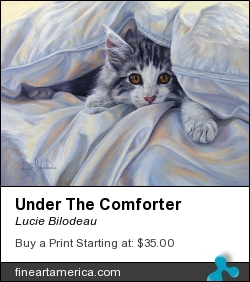 Under The Comforter by Lucie Bilodeau - Painting - Oil On Canvas