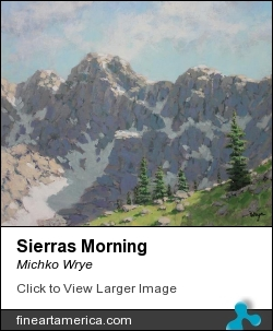 Sierras Morning by Michko Wrye - Painting - Acrylic On Panel