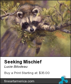 Seeking Mischief by Lucie Bilodeau - Painting - Oil On Panel