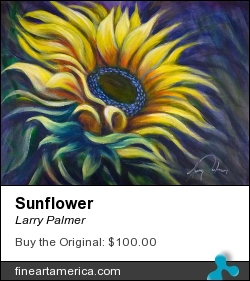 Sunflower by Larry Palmer - Painting - Acrylic