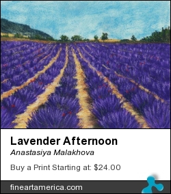 Lavender Afternoon by Anastasiya Malakhova - pastels on paper