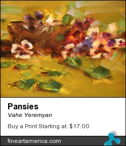 Pansies by Vahe Yeremyan - Painting