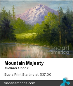 Mountain Majesty by Michael Cheek - Painting - Oil On Canvas