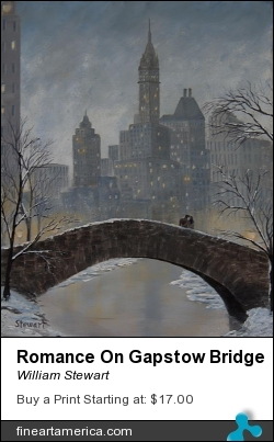 Romance On Gapstow Bridge by William Stewart - Painting - Acrylic