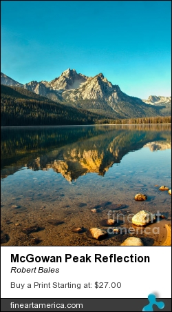 Mcgowan Peak Reflection by Robert Bales - Photograph - Photo