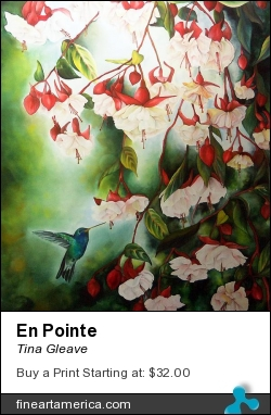 En Pointe by Tina Gleave - Painting - Painting With Dye On Silk