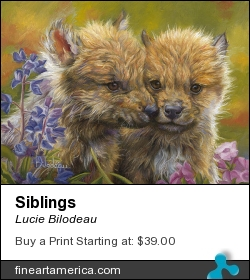 Siblings by Lucie Bilodeau - Painting - Oil On Canvas Panel