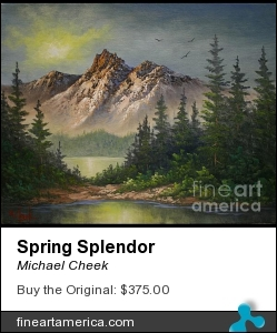 Spring Splendor by Michael Cheek - Painting - Oil On Canvas