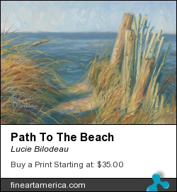 Path To The Beach by Lucie Bilodeau - Painting - Oil On Canvas Panel