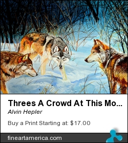 Threes A Crowd At This Moment by Alvin Hepler - Painting - Acrylic