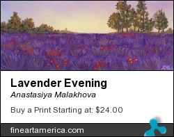 Lavender Evening by Anastasiya Malakhova - pastels on paper
