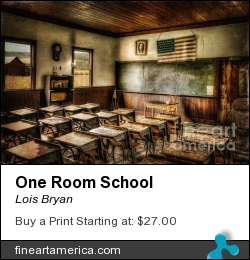 One Room School by Lois Bryan - Photograph - Photography / Digital Art