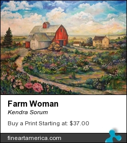 Farm Woman by Kendra Sorum - Painting - Acrylic On Canvas