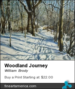 Woodland Journey by William  Brody - Painting - Acrylic On Board