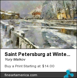 Saint Petersburg At Winter by Yury Malkov - Digital Art - Digital Media