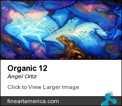 Organic 12 by Angel Ortiz - Painting - Acrylic On Canvas