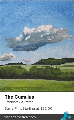 The Cumulus by Francois Fournier - Painting - Oil Painting