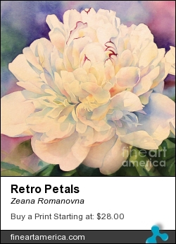 Retro Petals by Zeana Romanovna - Painting - Mixed Mediums Painting
