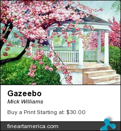 Gazeebo by Mick Williams - Painting - Watercolor
