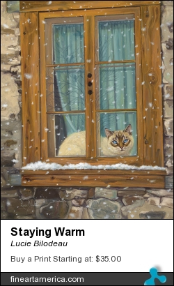 Staying Warm by Lucie Bilodeau - Painting - Oil On Canvas