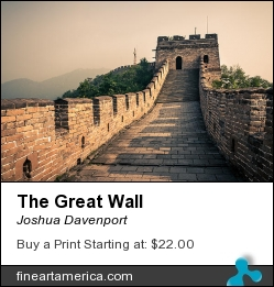 The Great Wall by Joshua Davenport - Photograph - Digital Photograph