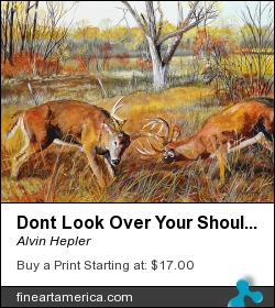 Dont Look Over Your Shoulder...got Trouble Comin by Alvin Hepler - Painting - Acrylic