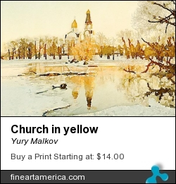 Church In Yellow by Yury Malkov - Digital Art - Digital Media
