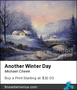 Another Winter Day by Michael Cheek - Painting - Oil On Canvas