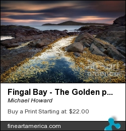 Fingal Bay - The Golden Path by Michael Howard - Photograph - Photography