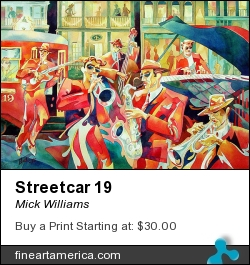 Streetcar 19 by Mick Williams - Painting - Watercolor