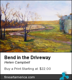 Bend In The Driveway by Helen Campbell - Painting - Acrylic On Canvas