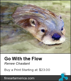 Go With The Flow by Renee Chastant - Painting - Watercolor On Paper