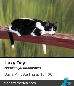 Lazy Day by Anastasiya Malakhova - pastels on paper