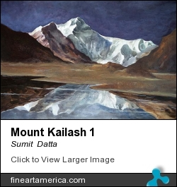 Mount Kailash 1 by Sumit  Datta - Painting - Mixed Media