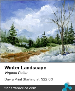 Winter Landscape by Virginia Potter - Painting - Oil On Board