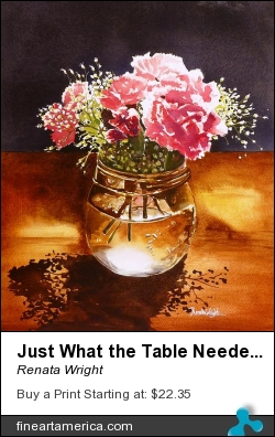 Just What The Table Needed by Renata Wright - Painting - Watercolour On Paper