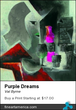 Purple Dreams by Val Byrne - Painting - Digital