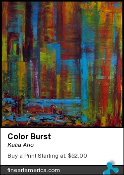 Color Burst by Katia Aho - Painting - Oil On Canvas