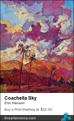 Coachella Sky by Erin Hanson - Painting - Oil On Canvas