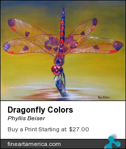 Dragonfly Colors by Phyllis Beiser - Painting - Oil On Canvas
