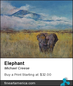 Elephant by Michael Creese - Painting - Oil On Canvas