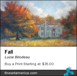 Fall by Lucie Bilodeau - Painting - Oil On Canvas