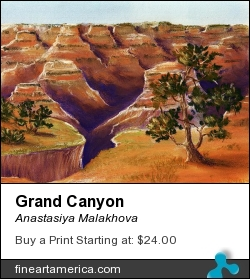 Grand Canyon by Anastasiya Malakhova - pastels on paper