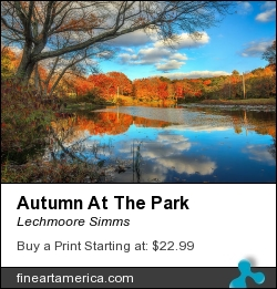 Autumn At The Park by Lechmoore Simms - Photograph